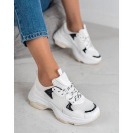 Small Swan Casualowe Sneakersy białe 4