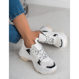 Small Swan Casualowe Sneakersy białe 1
