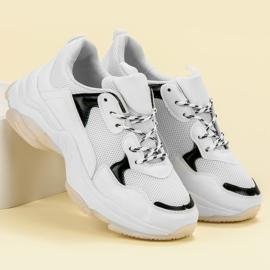 Small Swan Casualowe Sneakersy białe 3
