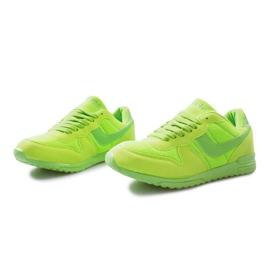 Zielone jaskrawe sportowe trampki na rzep Lola 1