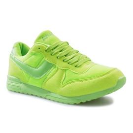 Zielone jaskrawe sportowe trampki na rzep Lola 2