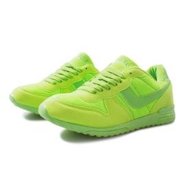 Zielone jaskrawe sportowe trampki na rzep Lola 3