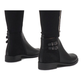 Ideal Shoes Czarne eleganckie botki C-7200 3