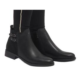 Ideal Shoes Czarne eleganckie botki C-7200 4