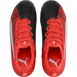Buty piłkarskie Puma One 5.3 Fg Ag JR105657 01 czerwono czarne czerwone czarny, czerwony 1