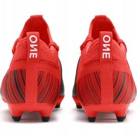Buty piłkarskie Puma One 5.3 Fg Ag JR105657 01 czerwono czarne wielokolorowe czerwone 4