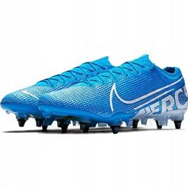 Buty piłkarskie Nike Mercurial Vapor 13 Elite SG-Pro Ac M AT7899 414 niebieskie 2