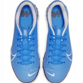 Buty piłkarskie Nike Mercurial Vapor 13 Academy Tf Jr AT8145 414 niebieskie 1