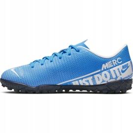 Buty piłkarskie Nike Mercurial Vapor 13 Academy Tf Jr AT8145 414 niebieskie 2
