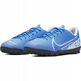 Buty piłkarskie Nike Mercurial Vapor 13 Academy Tf Jr AT8145 414 niebieskie 4