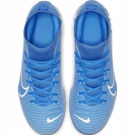 Buty piłkarskie Nike Mercurial Superfly 7 Club FG/MG Jr AT8150-414 niebieskie niebieskie 1