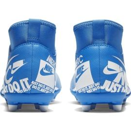 Buty piłkarskie Nike Mercurial Superfly 7 Club FG/MG Jr AT8150-414 niebieskie niebieskie 4
