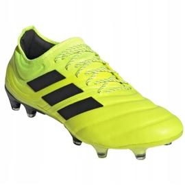 Buty piłkarskie adidas Copa 19.1 Fg M F35519 żółte żółte 3