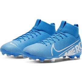 Buty piłkarskie Nike Mercurial Superfly 7 Academy FG/MG Jr AT8120 414 niebieskie 1