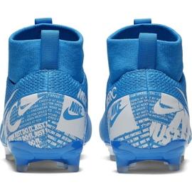 Buty piłkarskie Nike Mercurial Superfly 7 Academy FG/MG Jr AT8120 414 niebieskie 2