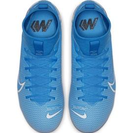 Buty piłkarskie Nike Mercurial Superfly 7 Academy FG/MG Jr AT8120 414 niebieskie 4