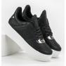 Ideal Shoes Sneakersy Z Brokatem czarne 3
