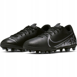 Buty piłkarskie Nike Mercurial Vapor 13 Club FG/MG Jr AT8161 001 czarne czarny 3