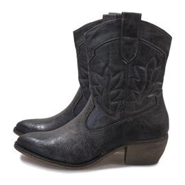 Szare kowbojki botki 10601-1 4