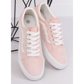 Trampki damskie różowe B70A PINK/WHITE 3