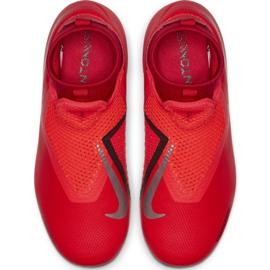 Buty piłkarskie Nike Phantom Vsn Academy Df FG/MG Jr AO3287-600 czerwone czerwone 1