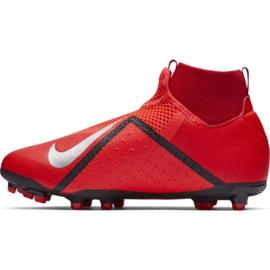Buty piłkarskie Nike Phantom Vsn Academy Df FG/MG Jr AO3287-600 czerwone czerwone 2