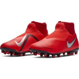 Buty piłkarskie Nike Phantom Vsn Academy Df FG/MG Jr AO3287-600 czerwone czerwone 3