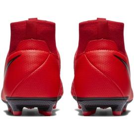 Buty piłkarskie Nike Phantom Vsn Academy Df FG/MG Jr AO3287-600 czerwone czerwone 4