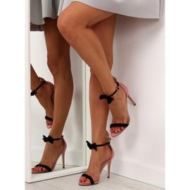 Sandałki na szpilce z uszkami ZJ-15P Pink - Ii Gat 3