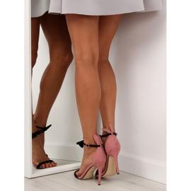 Sandałki na szpilce z uszkami ZJ-15P Pink - Ii Gat 1