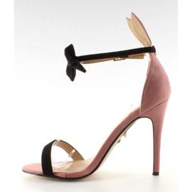Sandałki na szpilce z uszkami ZJ-15P Pink - Ii Gat 2