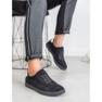 Ideal Shoes Czarne Sznurowane Obuwie 1