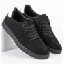 Ideal Shoes Czarne Sznurowane Obuwie 3