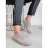 Ideal Shoes Szare Sznurowane Obuwie 4