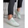 Ideal Shoes Miętowe Sznurowane Obuwie zielone 3