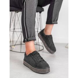 Bestelle Zamszowe Buty Sportowe czarne 1