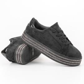 Bestelle Zamszowe Buty Sportowe czarne 2