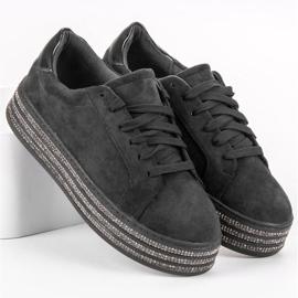 Bestelle Zamszowe Buty Sportowe czarne 3