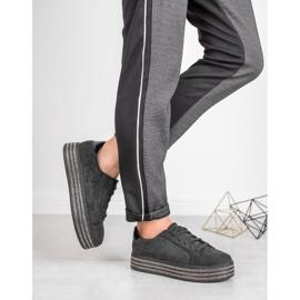 Bestelle Zamszowe Buty Sportowe czarne 4