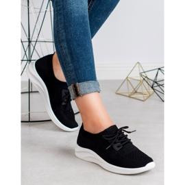 Ideal Shoes Tekstylne Obuwie Sportowe czarne 1