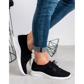 Ideal Shoes Tekstylne Obuwie Sportowe czarne 2