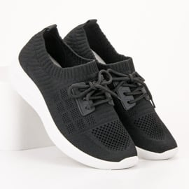 Ideal Shoes Tekstylne Obuwie Sportowe czarne 3