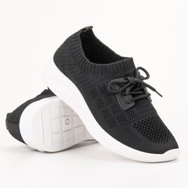Ideal Shoes Tekstylne Obuwie Sportowe czarne 4