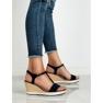 Anesia Paris niebieskie Lekkie Granatowe Sandały zdjęcie 1