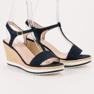 Anesia Paris niebieskie Lekkie Granatowe Sandały zdjęcie 2
