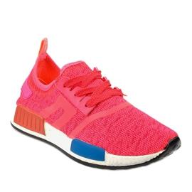 Różowe obuwie sportowe MD01B-4 1