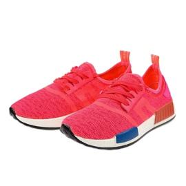 Różowe obuwie sportowe MD01B-4 2