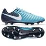 Buty piłkarskie Nike Tiempo Ligera Iv Fg M 897744-414 niebieskie 2