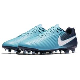 Buty piłkarskie Nike Tiempo Ligera Iv Fg M 897744-414 niebieskie 3