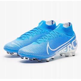 Buty Nike Mercurial Superfly 7 Elite Ag Pro M AT7892 414 niebiesko białe niebieskie biały, niebieski 1